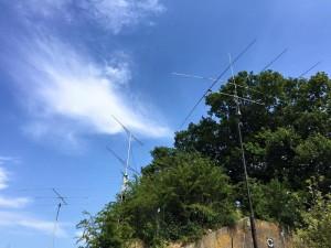 Antenne setup bij PA15TOUR op Fort de Gagel in Utrecht