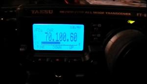 70 MHz op scherm FT-897D