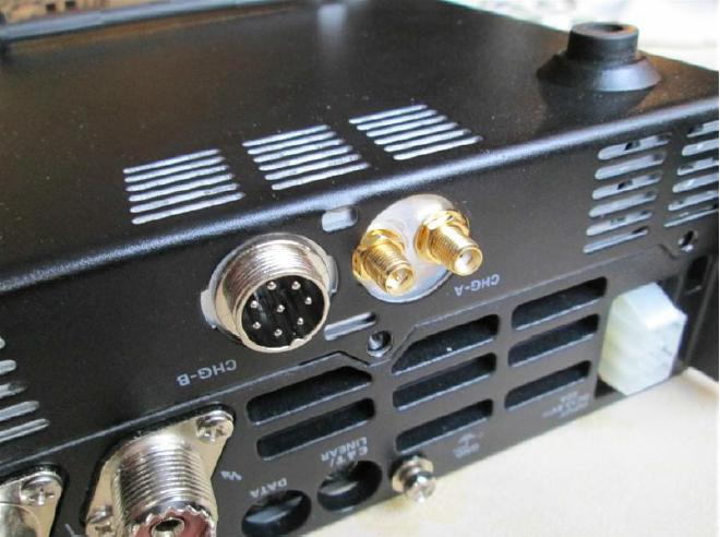 Foto van antenne doorvoeren en PTT aansluiting