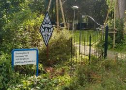 Het VERON-bord is opgeknapt en naast de ingang geplaats bij onze nieuwe locatie aan de Daalseweg in Oud Zuilen, Utrecht