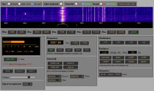 Dikke signalen van ons Ab via de WebSDR in Maasbree