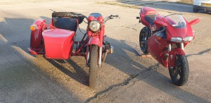 De trage Dnper en de snelle Ducati